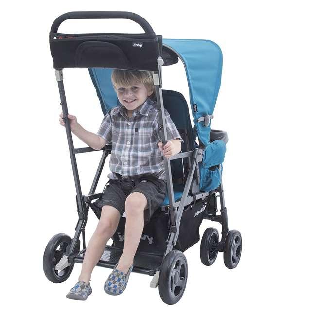 JVY-8110 Joovy Caboose Ultralight Lightweight Canopy Stroller, Turquoise 4