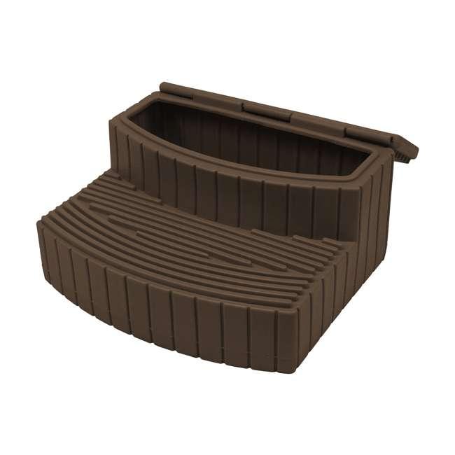 SSTEP-OAK Good Ideas Sora Steps Lightweight Plastic Outdoor & Indoor Storage Step, Oak 1