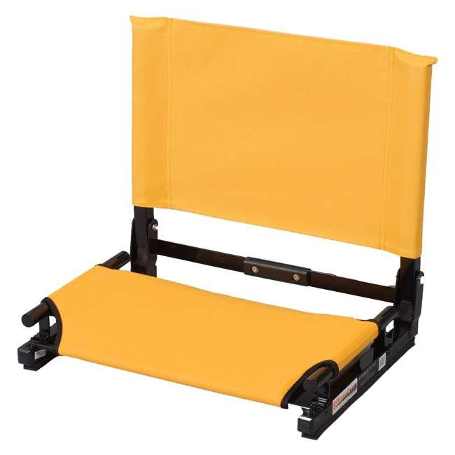 SC2-GOLD Stadium Chair Game Changer Bleacher Seat, Gold (2 Pack) 1