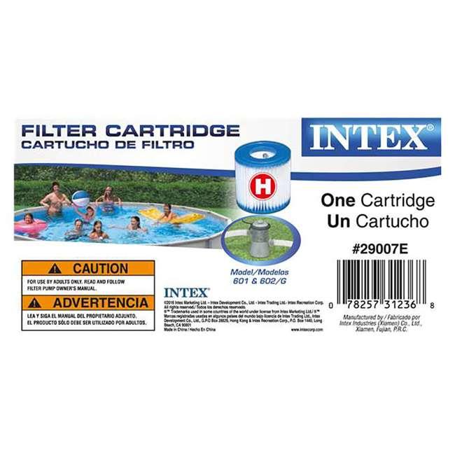 Intex Filter Cartridge Replacement Type H 6 Pack 6 X