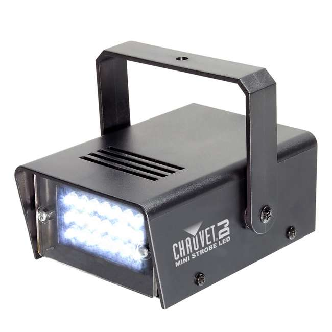 HURRICANE-HAZE2D + FJU + MINISTROBE-LED Chauvet DJ Hurricane Haze 2D Fog Machine w/ Remote, Fog Juice, & Strobe Light 9