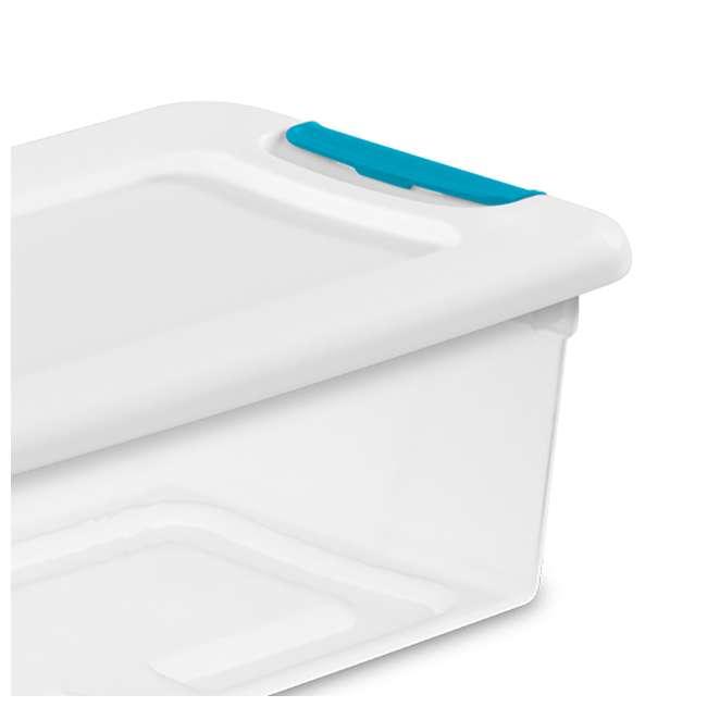 12 x 14928012 + 4 x 14998004 Sterilite 6 Qt Clear Storage Box Container 12 Pack and 106-Qt Storage Box 4 Pack 3