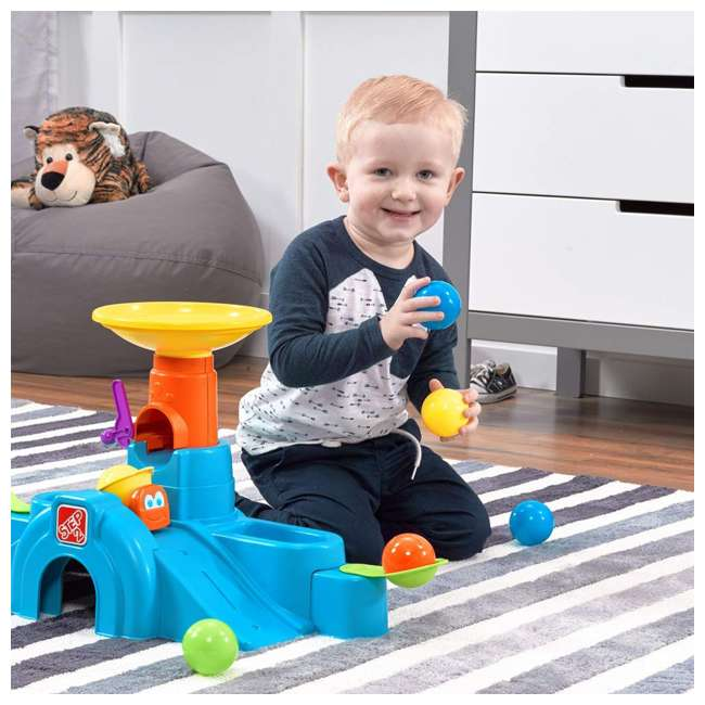 497400 Step2 497400 Durable Toddler Ball Buddies Tunnel Tower with 10 Colorful Balls 4