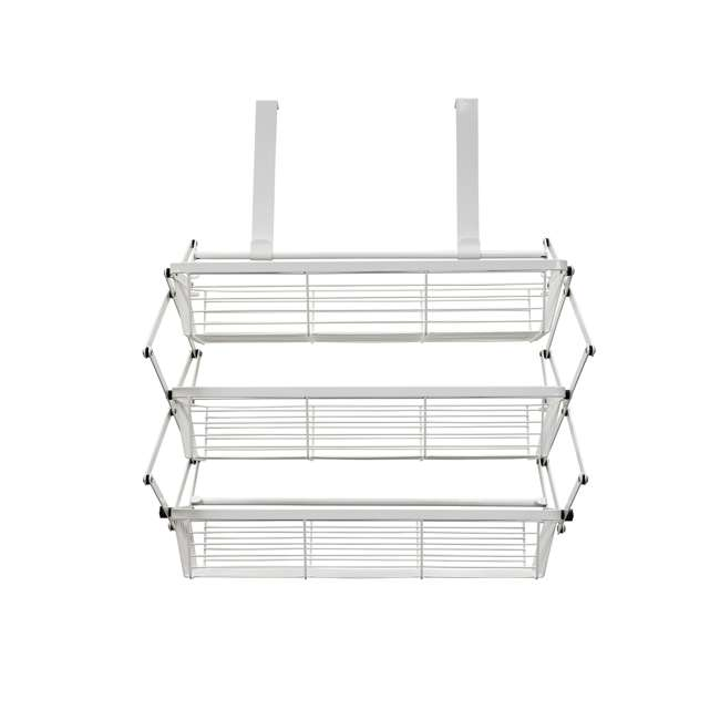 OTD-3R-WHI Supermoon Products Over the Door 3 Tier Hanging Rack (2 Pack) 2