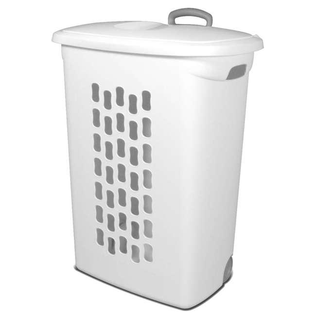 12228003-U-A Sterilite 12228003 Portable Wheeled Laundry Hamper-Open Box