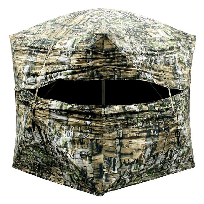 person woodland bloodtrail grounder ip pop hunting blind barronett camo up blinds