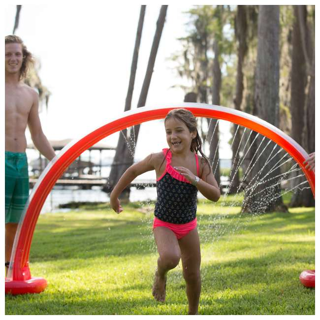 WMO-61394 Wham-O Inflatable Outdoor Water Giggle 'N Splash Rainbow Arch Sprinkler, Blue 4