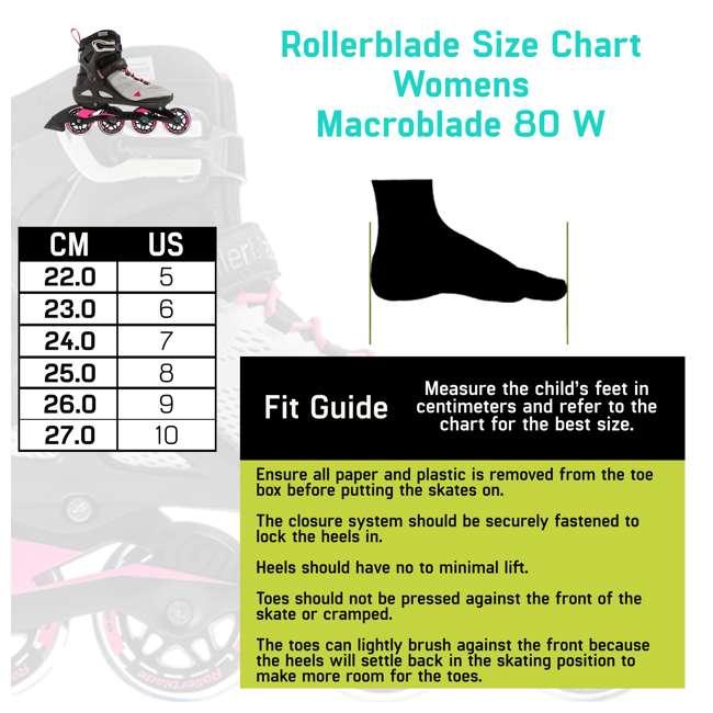 7955300500-7 + 06320200001-M + 067H0310800-L Rollerblade USA Women's Size 7 Rollerblades + Pads + Helmet 6