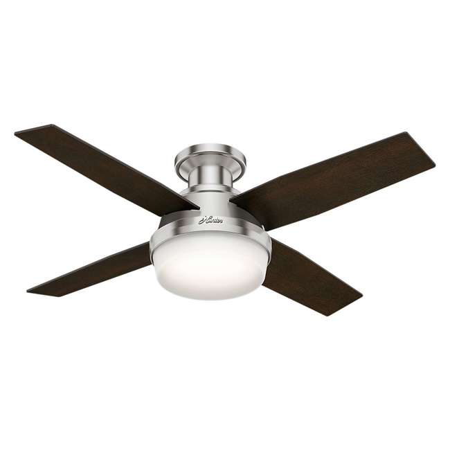 59243-U-B Hunter 44 Inch Dempsey Low Profile Brushed Nickel Ceiling Fan (Used) 1