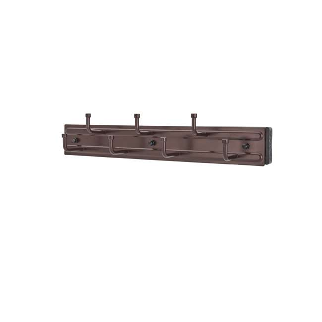 BRC-12ORB Rev-a-Shelf BRC-12ORB 12 Inch Wall Mounted Pullout Belt Rack, Oil Rubbed Bronze (2 Pack) 1