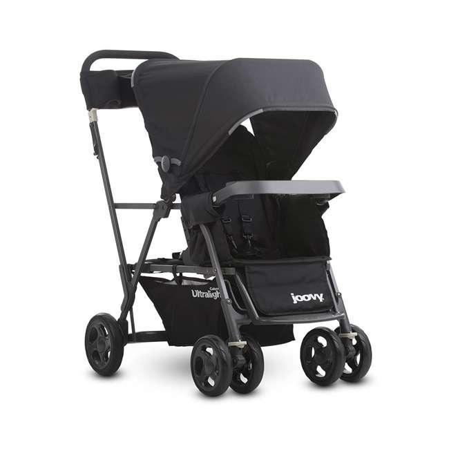 JVY-8117 Joovy Caboose Ultralight Lightweight Canopy Stroller, Black