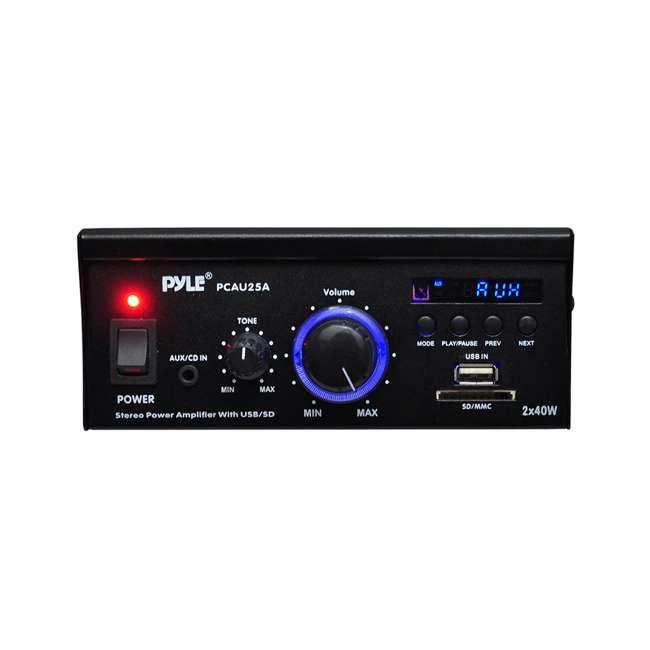 4 x PCAU25A Pyle Mini 2 x 40-Watt Stereo Power Amplifier (4 Pack) 2