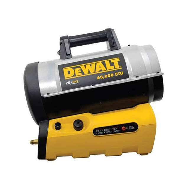MH-F340661 DeWalt F340661 68,000 BTU Jobsite Portable Cordless Forced Air Propane Heater 3