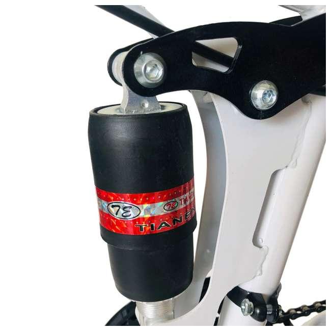 "MTB014-WH NextGen 26"" 21 Speed Shimano Foldable Hardtail Downhill Mountain Bike, White 2"