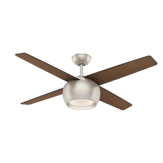 59333 Casablanca 159931 Valby 54 Inch 4 Blade Quiet LED Light Ceiling Fan, Matte Nickel 1