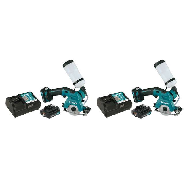 CC02R1 Makita 12-Volt CXT 3-3/8 Inch Tile Glass Saw Kit (2 Pack)