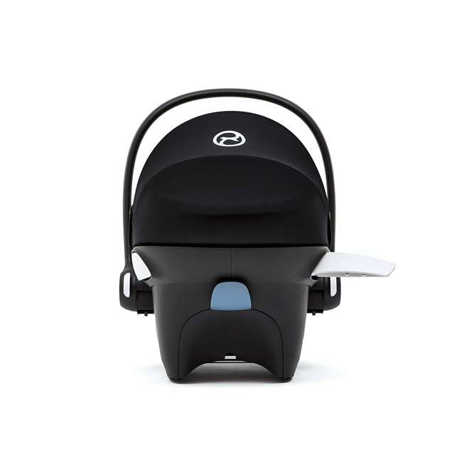518002089 Cybex Aton M Newborn Infant Baby Car Seat with SafeLock Base, Lavastone Black 2