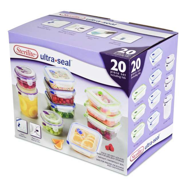 Camping Water Container >> Sterilite Ultra-Seal Food Storage Container 20-Piece Set : 03068602