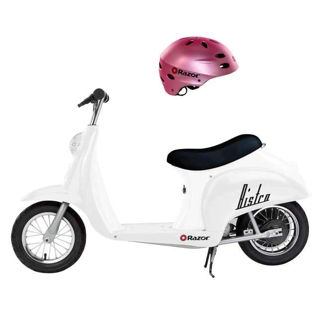 15130608 + 97783 Razor Pocket Mod Miniature Kids Toy Motor Scooter & Helmet