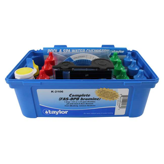 Taylor K2106 Complete Swimming Pool Spa Water Test Kit Fas Dpd Bromine K2106