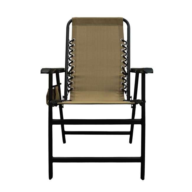 CVANXFC01152-2PK-U-B Caravan Canopy Infinity Suspension Folding Chair with Cupholder (2 Pack) (Used) 2