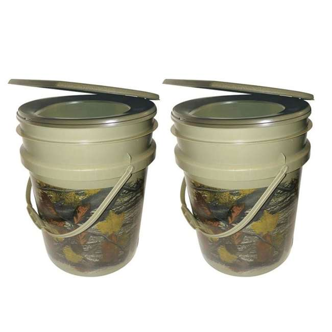 9863-03 Reliance Products Hunter's Loo Portable 5 Gallon Camouflage Toilet (2 Pack)