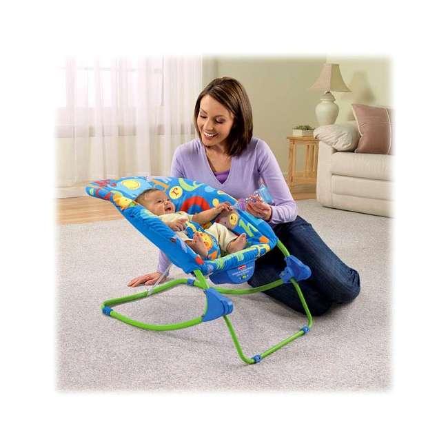 T4257 Fisher-Price Deluxe Animal Alphabet Infant-to-Toddler Rocker 1