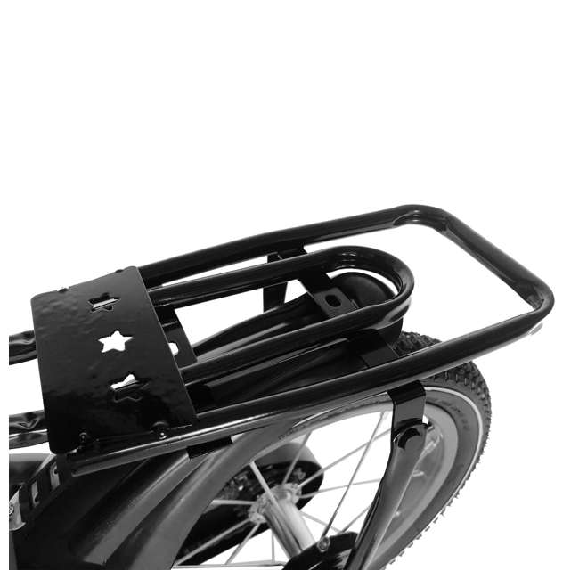 16BK-BLACK NextGen 16 Inch Childrens Kids Bike Bicycle with Training Wheels & Basket, Black 2