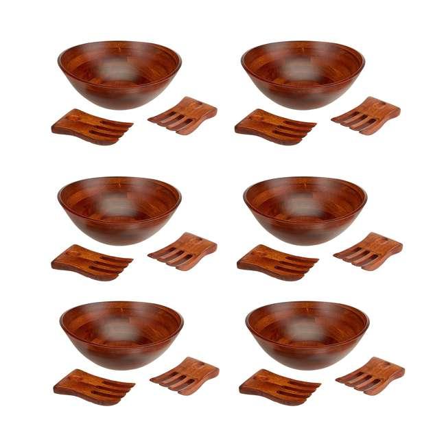 6 x LP-294-3 Lipper International Wavy Rim Cherry Bowl Set (6 Pack)