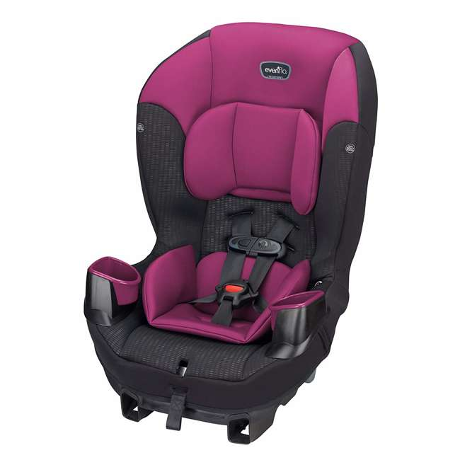 34812024 Evenflo Sonus 2 in 1 Convertible Travel Infant Baby Toddler Car Seat, Berry Beat