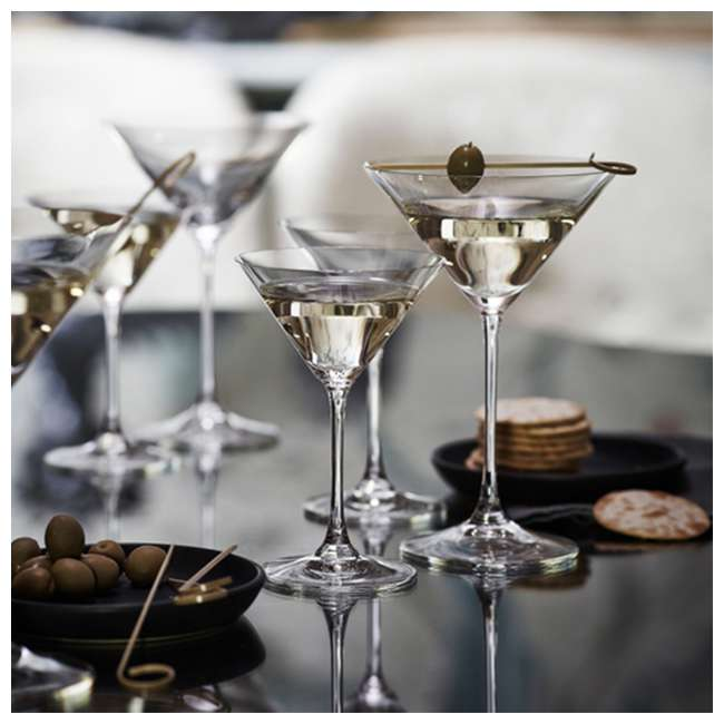 6416/37 Riedel Vinum Crystal Inverted Cone Shaped XL Martini Glass, 9.52 Ounce (2 pack) 1