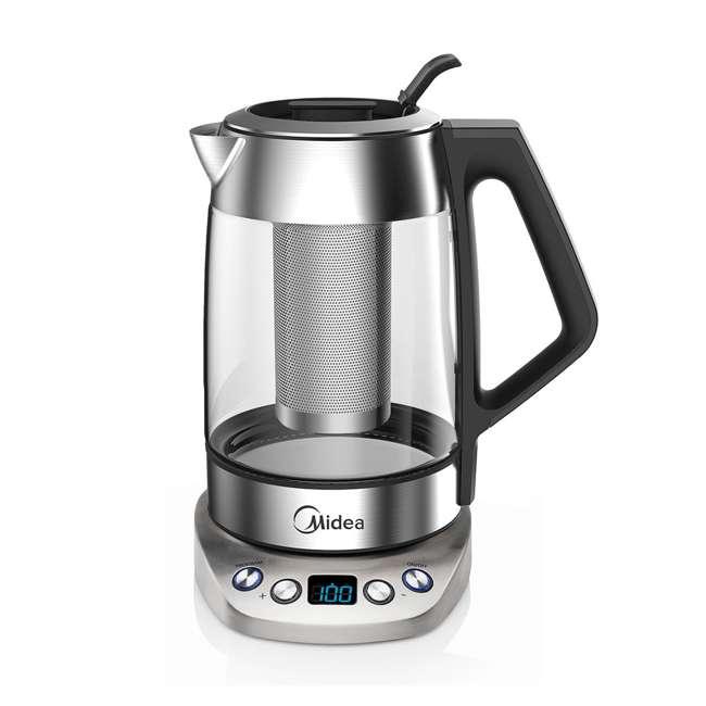 MEK17GT-E8-U-A Midea 1.7-Liter Variable Temperature Electric Tea Kettle, Silver (Open Box)