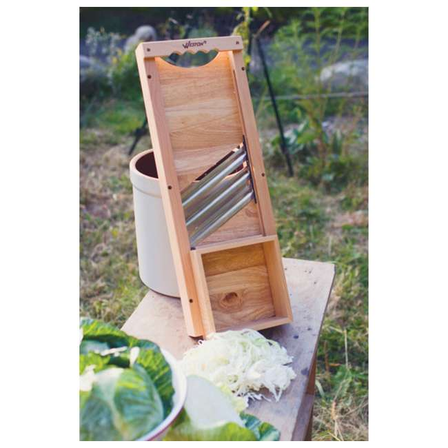 70-1401-W Weston Wooden Cabbage Shredder Slicer 2