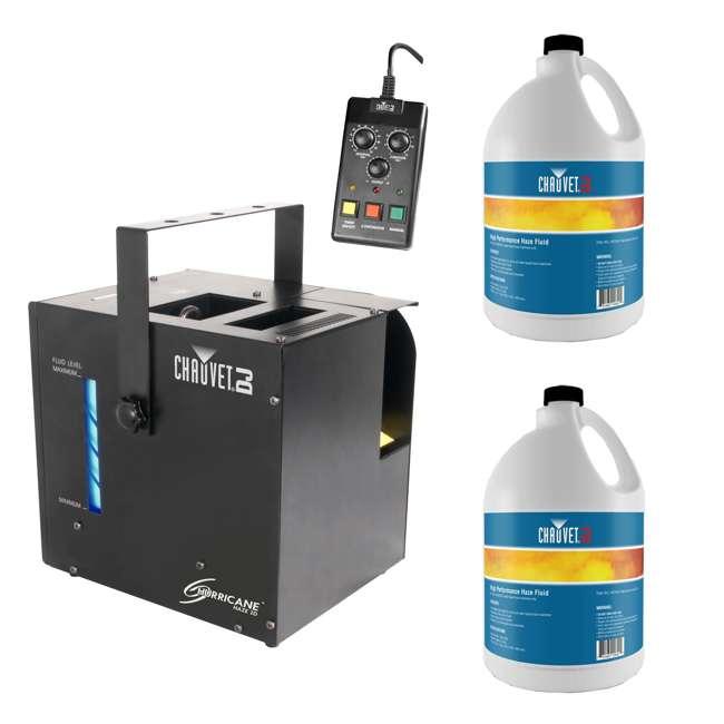 HURRICANE-HAZE2D + 2 x HFG-FLUID Chauvet DJ Hurricane Haze 2D Haze Machine w/ Remote + (2) Fluid Gallons