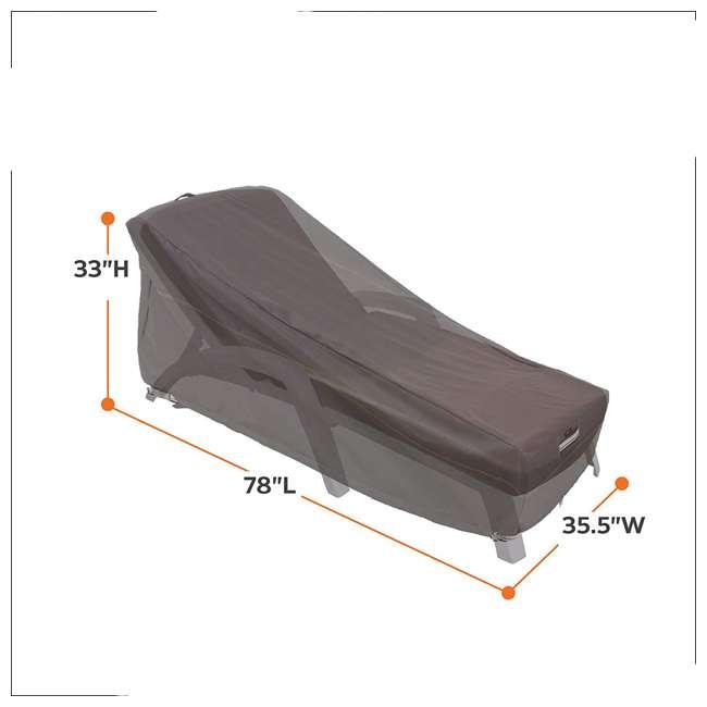 55-163-045101-EC-U-A Classic Accessories Ravenna Patio Chaise Lounge Cover, Dark Taupe (Open Box) 1