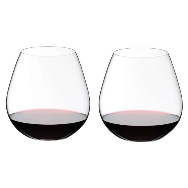 0414/07 Riedel VINUM O Wine Tumbler Nebbiolo Stemless Fine Crystal Glasses, Set of 2