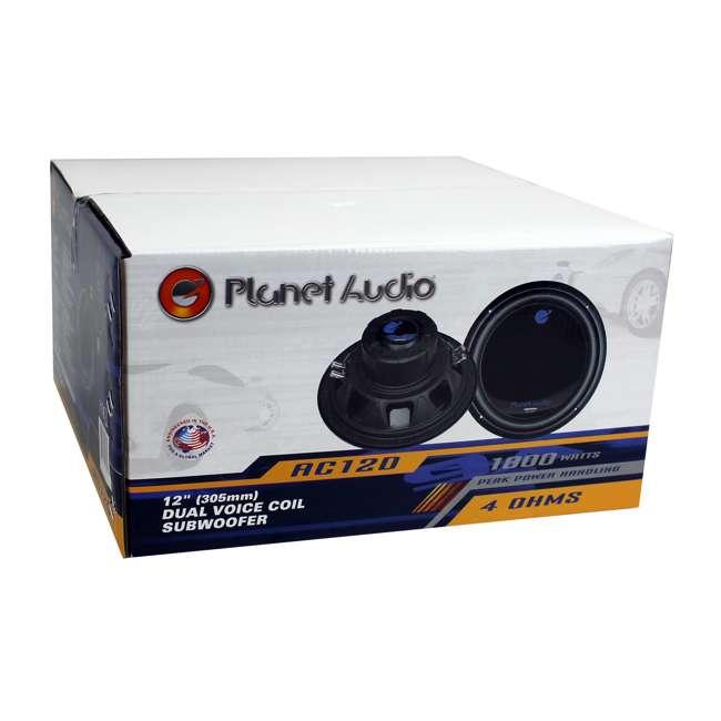 AC12D Planet Audio 12-Inch 1800-Watt Car Audio Subwoofer 5
