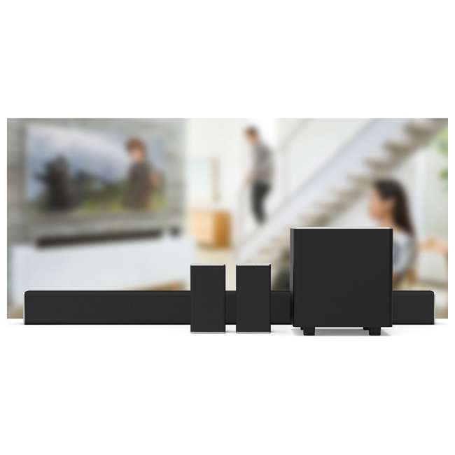 "SB3851-D0-RB-U-C VIZIO 38"" 5.1 Sound Bar w/ Google Cast Certified Refurbished (For Parts) 1"