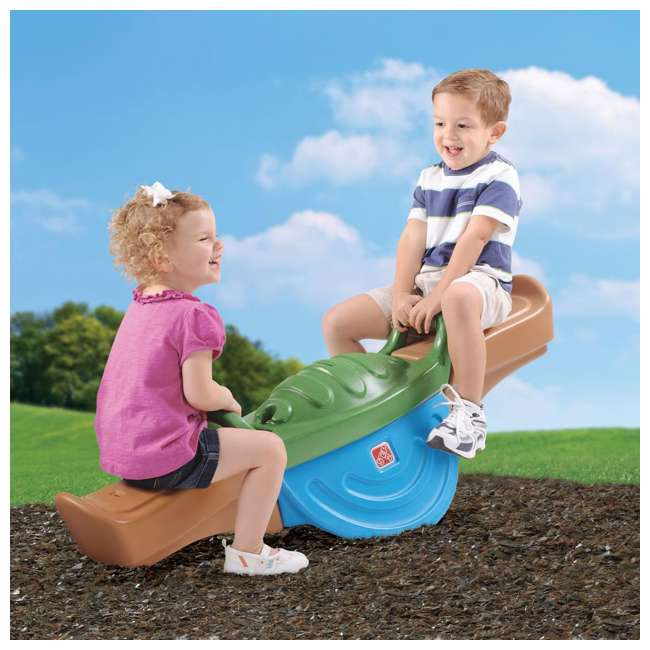 716800 Step 2 Play Up Outdoor Plastic Teeter Totter Seesaw 1