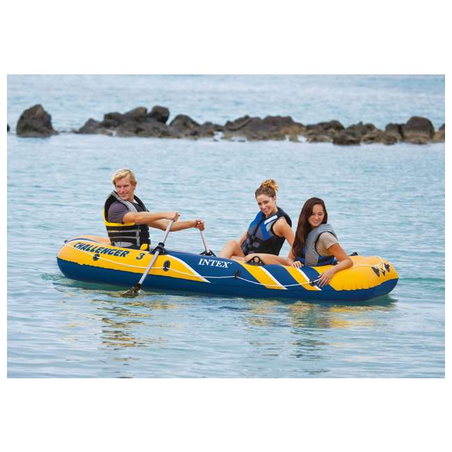 68370EP Intex Challenger 3 Inflatable Boat Set With Pump And Oars 5