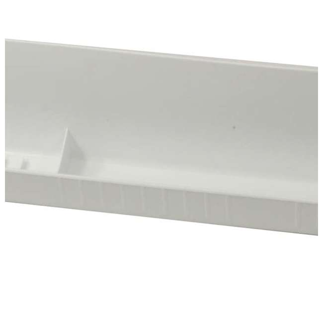 LD-6591-30-11-1 Rev A Shelf Lazy Daisy 30 Inch Polymer Sink Front Tip Out Tray and Hinges, White 2
