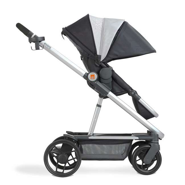 10AT2G-CHA4U GB Evoq 4 in 1 Infant Safe Car Seat Stroller Compact Travel System, Charcoal 1