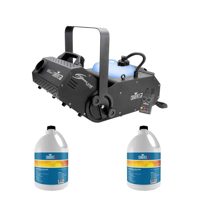 H1800FLEX + 2 x HFG-FLUID Chauvet FLEX DMX Fog Machine w/ Water Based Smoke Fog Haze Machine Fluid(2 Pack)