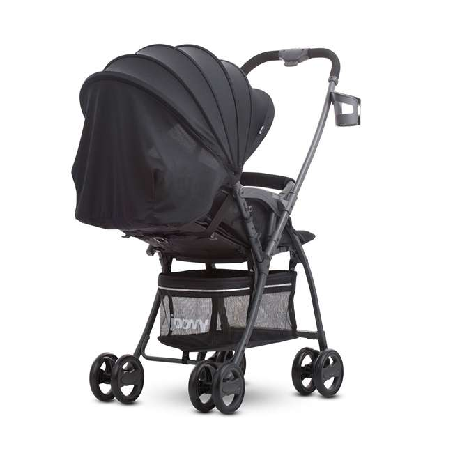 JVY-8097 Joovy Lightweight Infant Bassinet Balloon Canopy Stroller, Black 1