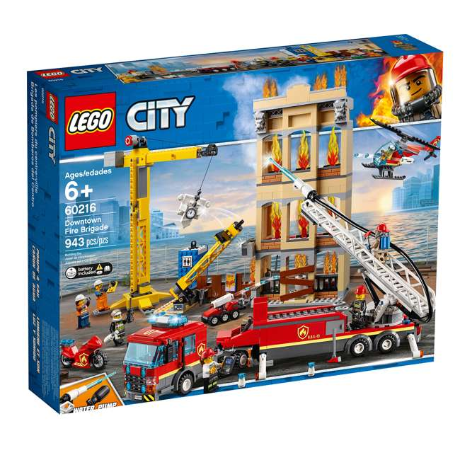 6251474 LEGO City 60216 Downtown Fire Brigade Block Building Kit with 7 Minifigures 5