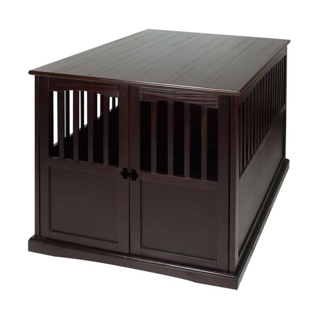 600-84 Casual Home Extra Large Pet Crate End Table, Espresso 3