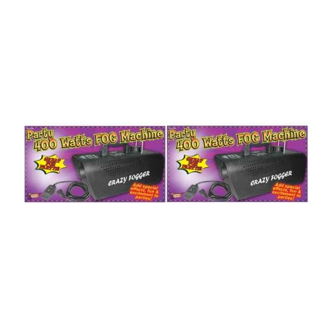 61066 (2) Halloween 400 Watt Fog Machines & Remotes 1