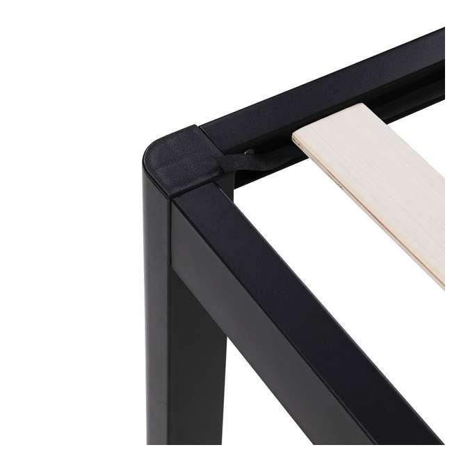 VMI-18HBSLBF-Q intelliBASE 18 Inch Wood Slat Black Metal Platform Bed Frame w/ Headboard, Queen 3