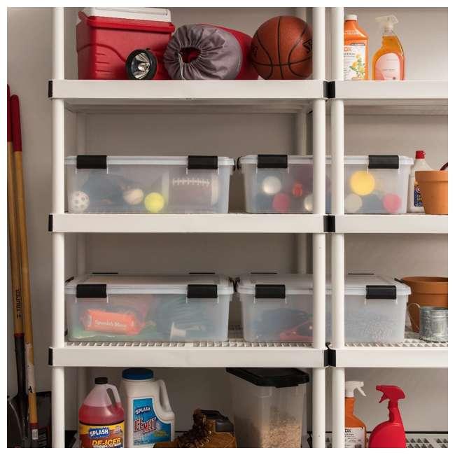 110400 IRIS USA 110400 30.6 Quart Weathertight Plastic Storage Container Box, Clear 2
