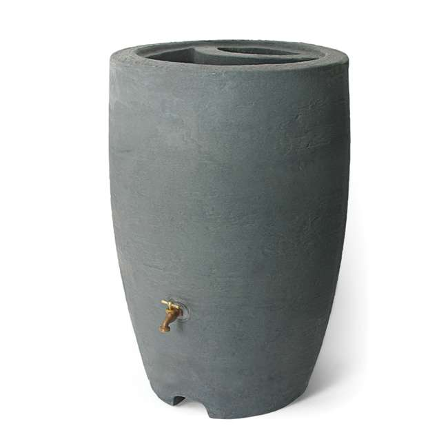 ALG-86302 Algreen Athena 50-Gallon Rain Water Collection Barrel, Charcoal